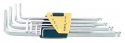 Н-р ключей Г-обр. шестигран. с шаровид. наконечником длинных 9 пр., Н1,5-10, в касете