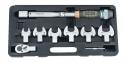 Ключ динамометрический со сменными гаечными насадками (9пр)